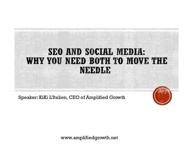 Speaker: KiKi L'Italien, CEO of Amplified Growth www.amplifiedgrowth.net