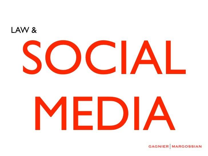LAW & SOCIAL MEDIA