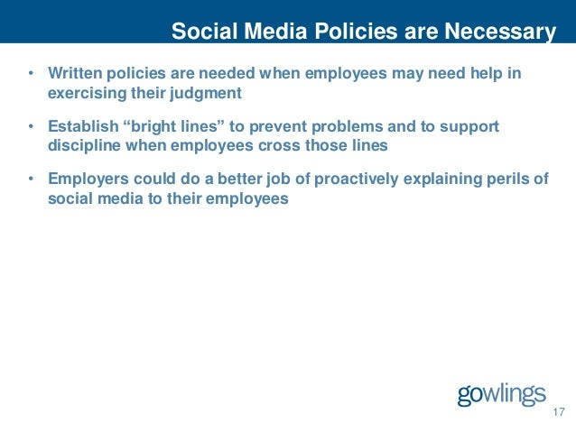 Social Media and the Workplace: Navigating in a New World