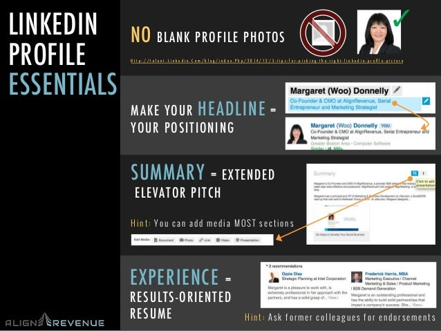 #TechWomen@mwdonnelly @AlignRevenue @NHHTC LINKEDIN PROFILE ESSENTIALS NO BLANK PROFILE PHOTOS ✓ H t t p : / / t a l e n t...
