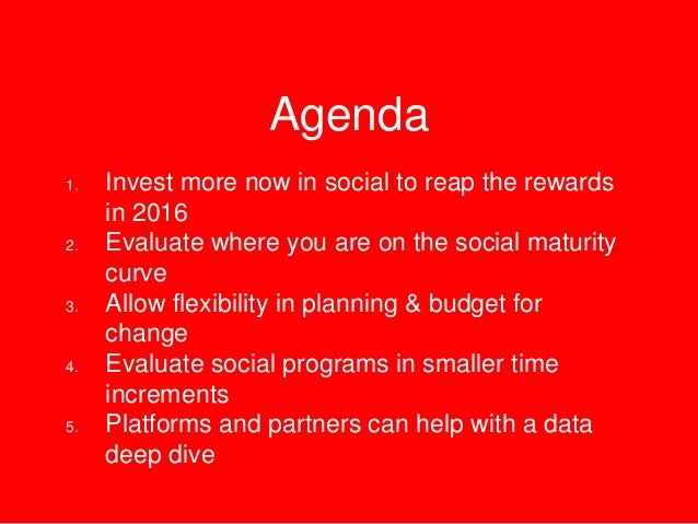 Annual Planning & Social Media - What You Need To Know  Slide 2