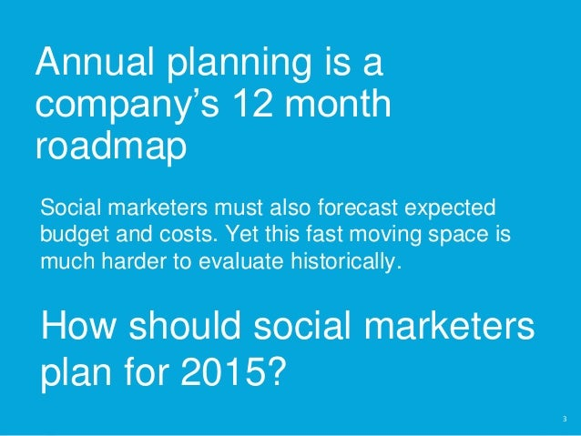 Annual Planning & Social Media - What You Need To Know  Slide 3