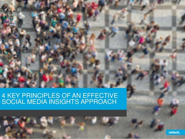 4 KEY PRINCIPLES OF AN EFFECTIVE  SOCIAL MEDIA INSIGHTS APPROACH