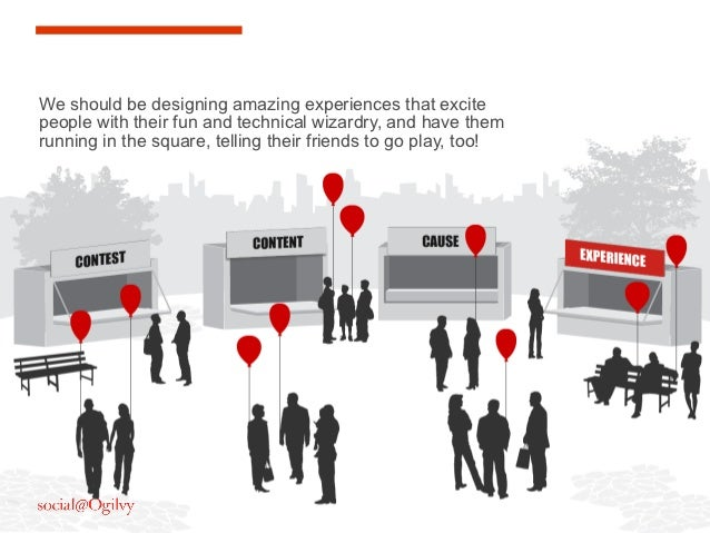 We should be designing amazing experiences that excitepeople with their fun and technical wizardry, and have themrunning i...