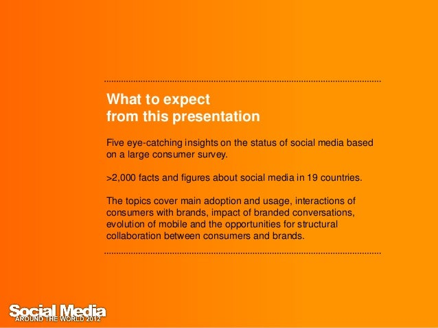 Social Media around the World 2012 (by InSites Consulting) Slide 2
