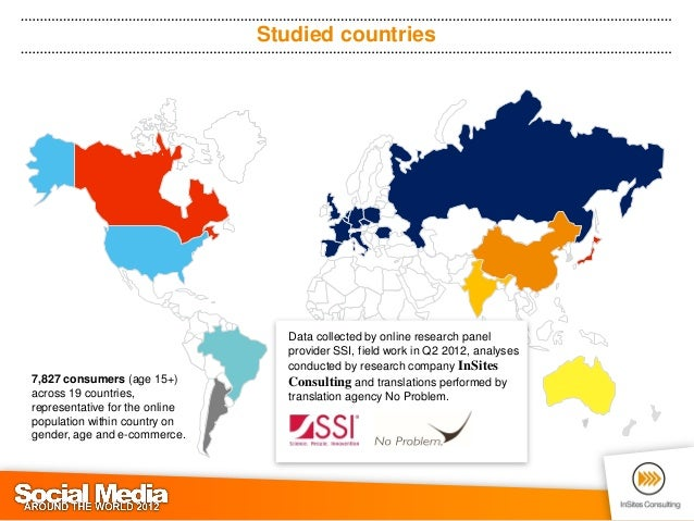 Social Media around the World 2012 (by InSites Consulting) Slide 3