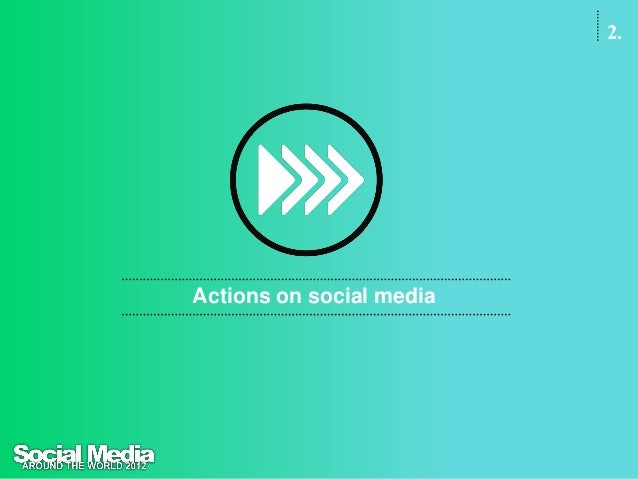 2.Actions onsocial mediaThe key activities on social networks are related topersonal relationships and having fun. People ...
