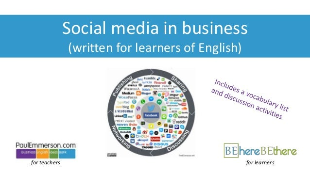for teachers Social media in business (written for learners of English) for learners