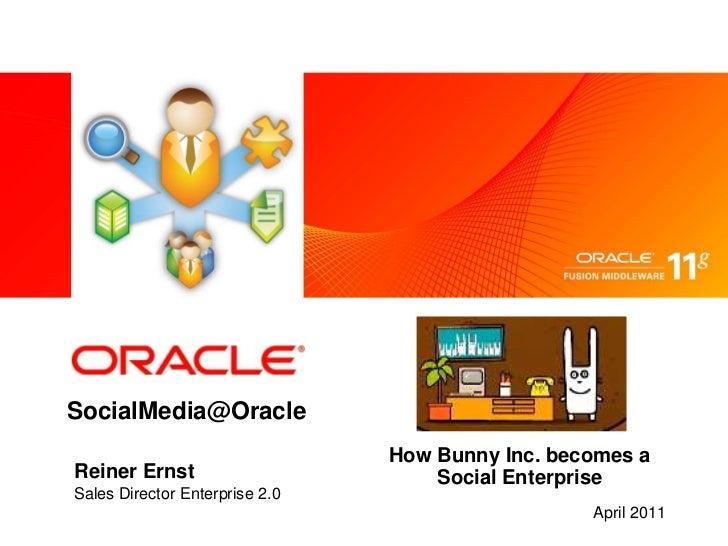 SocialMedia@Oracle<br />How Bunny Inc. becomes a Social Enterprise<br />Reiner Ernst<br />Sales Director Enterprise 2.0<br...