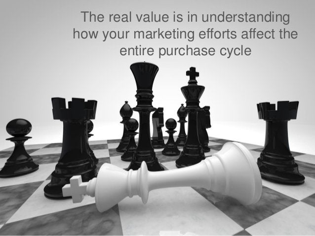 The real value is in understanding                         how your marketing efforts affect the                          ...