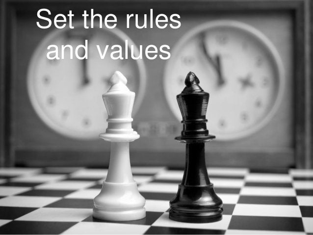 Set the rules         and values#measure13 @katyhowell