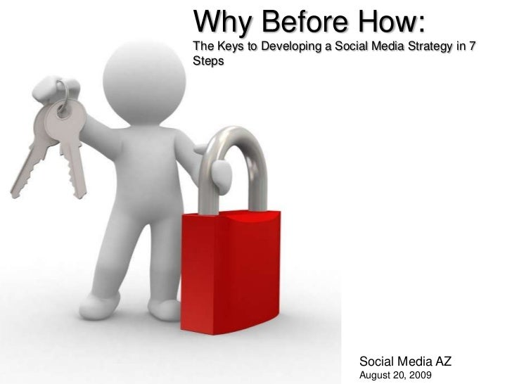 Why Before How:<br />The Keys to Developing a Social Media Strategy in 7 Steps<br />Social Media AZ<br />August 20, 2009<b...