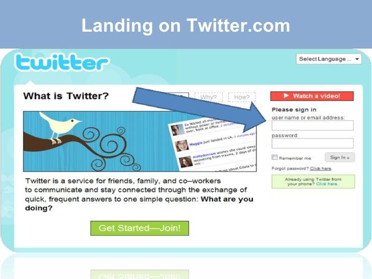 Landing on Twitter.com