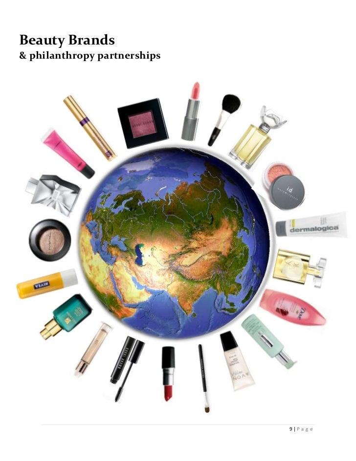 Beauty Brands& philanthropy partnerships    1                              9 P a g e