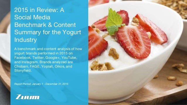 Report Period: January 1 - December 31, 2015 2015 in Review: A Social Media Benchmark & Content Summary for the Yogurt Ind...