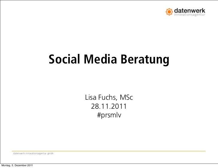 Social Media Beratung                                            Lisa Fuchs, MSc                                          ...