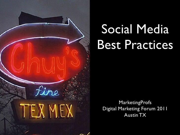 Social Media                            Best Practices                                      MarketingProfs                ...