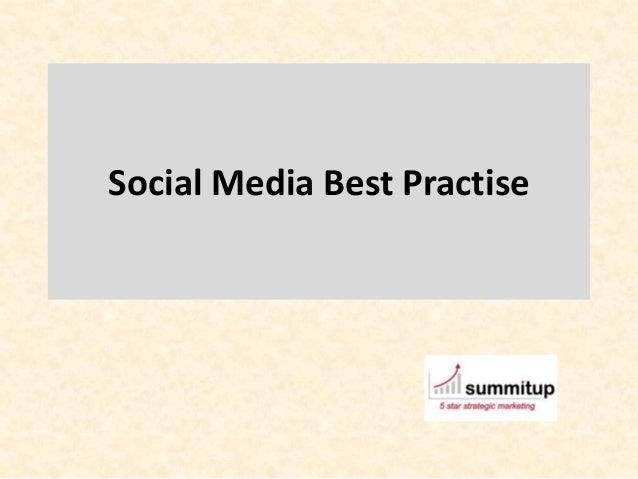Social Media Best Practise
