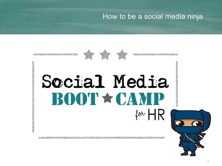 How to be a social media ninja