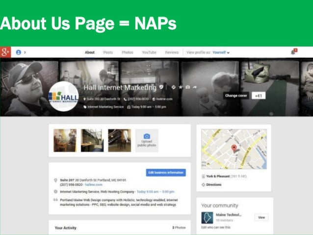 20 About Us Page = NAPs