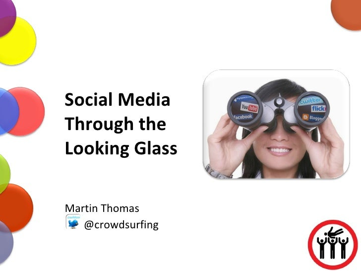 Social Media Through the Looking Glass Martin Thomas @crowdsurfing
