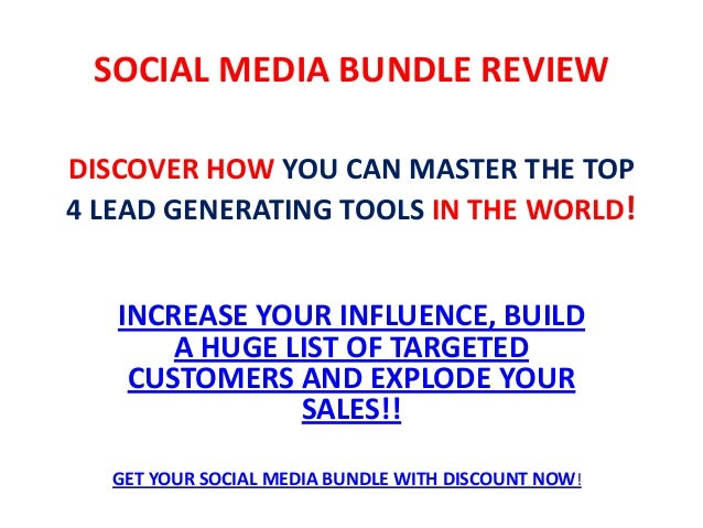 DISCOVER HOW YOU CAN MASTER THE TOP 4 LEAD GENERATING TOOLS IN THE WORLD! INCREASE YOUR INFLUENCE, BUILD A HUGE LIST OF TA...