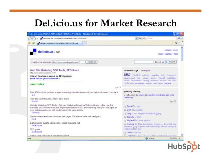 Del.icio.us for Market Research