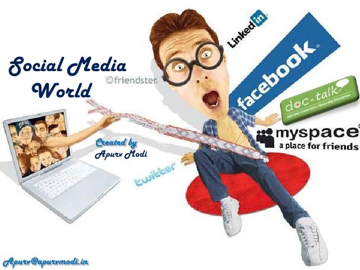 Social Media   World                     Created by                     Apurv ModiApurv@apurvmodi.in