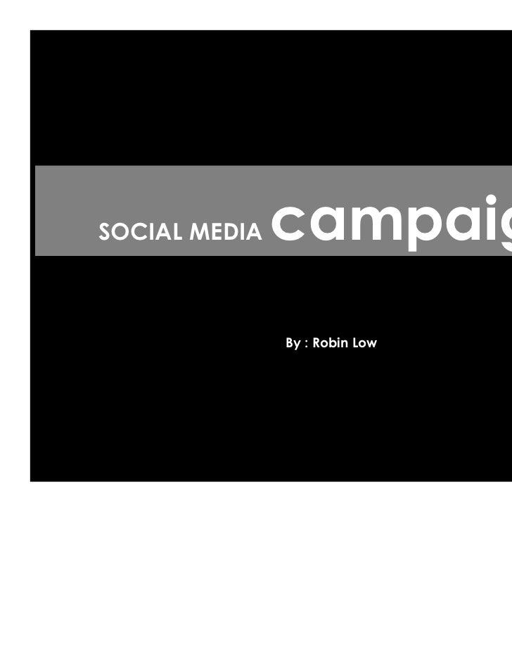 SOCIAL MEDIA   campaign               By : Robin Low