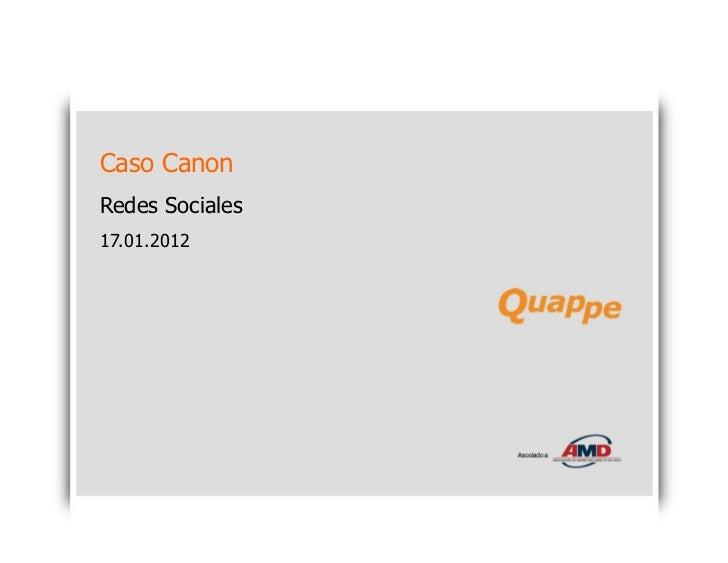 Caso CanonRedes Sociales17.01.2012