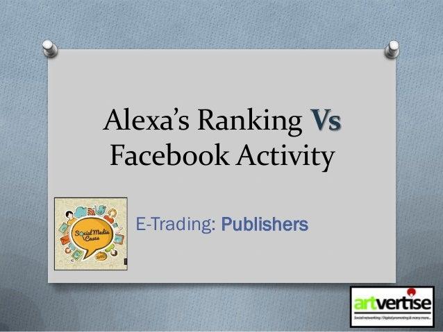 Alexa's Ranking Vs Facebook Activity E-Trading: Publishers