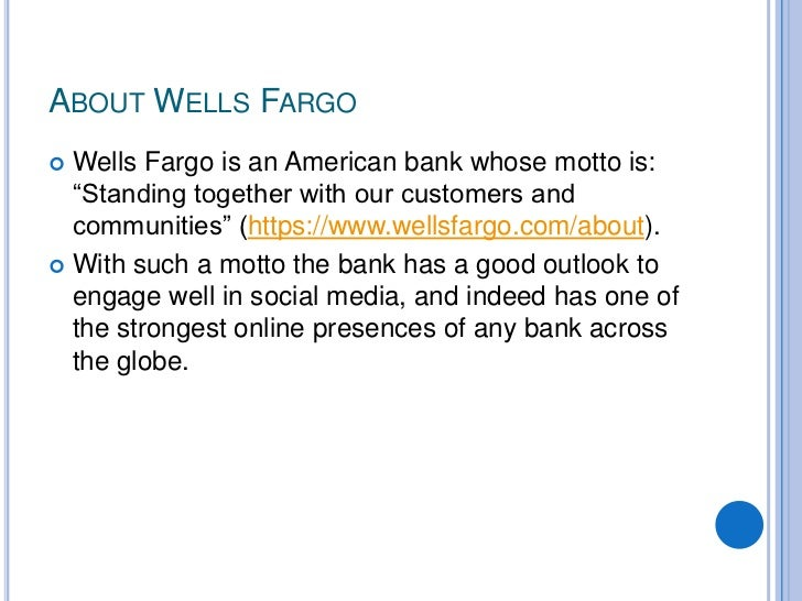 wells fargo case study In the wells fargo scandal, they see a case study that illustrates the perils of aggressive sales goals — risky enough, in wells fargo's case, that the bank said it would eliminate them altogether starting jan 1 they point to the damage in trust that could be done to a brand that has sought to distinguish itself.