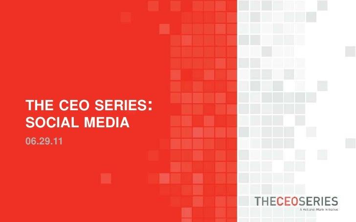 the ceo series:social media06.29.11<br />