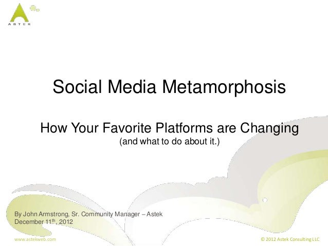 Social Media Metamorphosis         How Your Favorite Platforms are Changing                                 (and what to d...