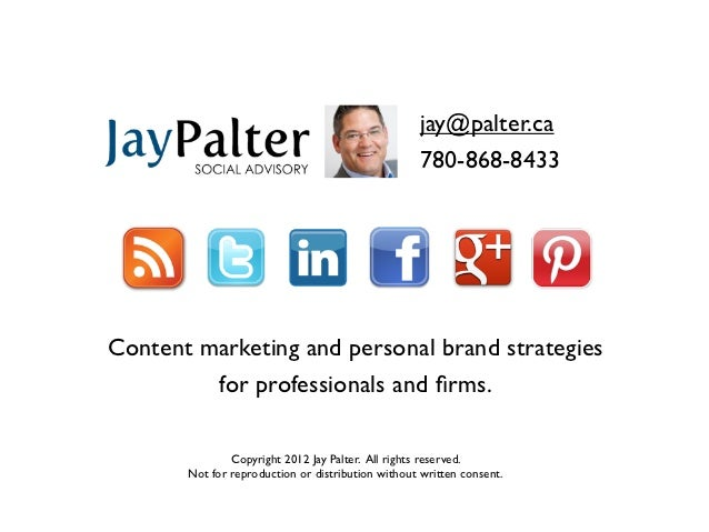 jay@palter.ca                                                   780-868-8433Content marketing and personal brand strategie...