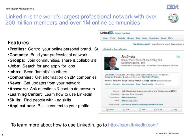"""Information Management    LinkedIn is the world""""s largest professional network with over    200 million members and over 1..."""