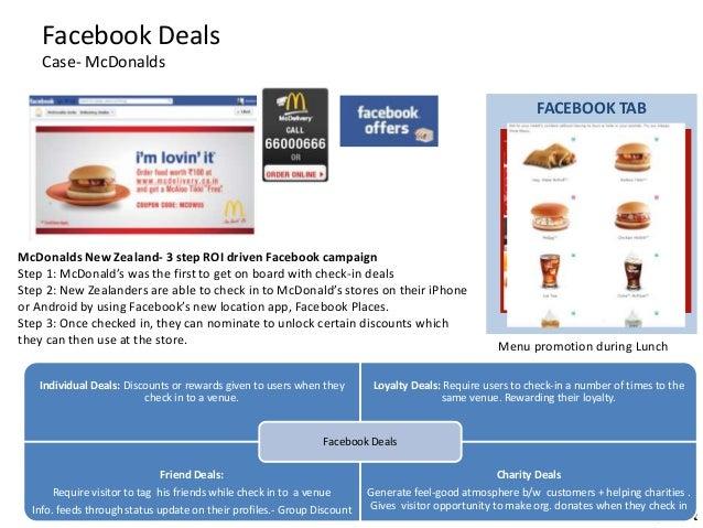 Follow me @gtmtwt Facebook Deals Case- McDonalds FACEBOOK TAB Menu promotion during Lunch McDonalds New Zealand- 3 step RO...