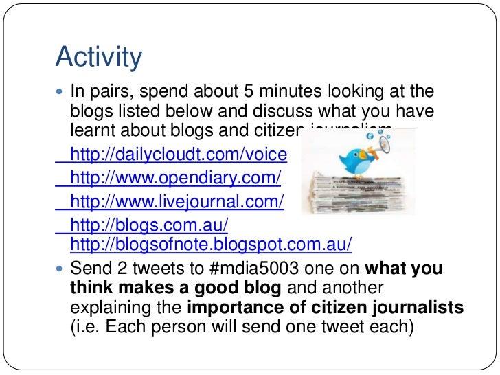 citizen journalism vs mainstream media essay Amateur journalism is essay citizen journalist the impact of the rise of citizen journalists for mainstream media.