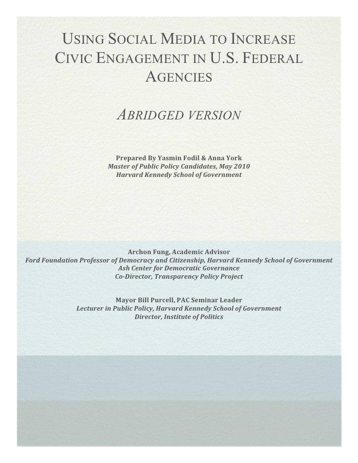 Using Social Media to Enhance Civic Participation: Executive