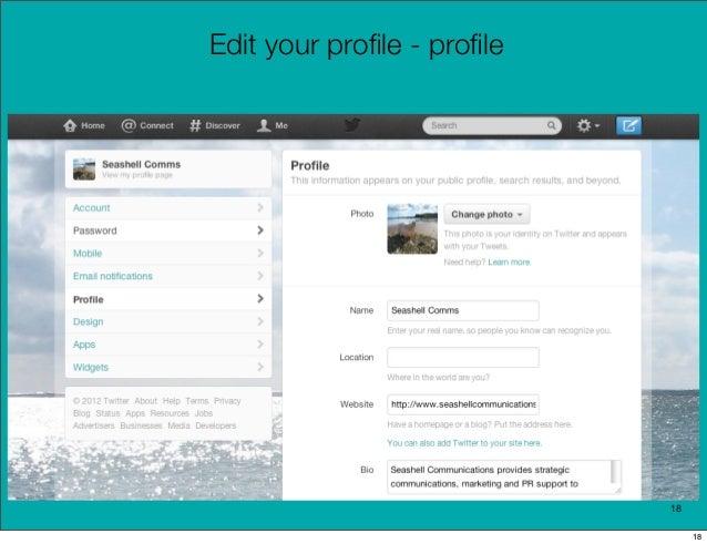 Edit your profile - profile                            18                                 18