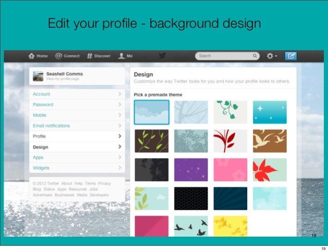 Edit your profile - background design                                       19                                            19