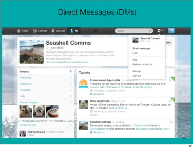 Direct Messages (DMs)                        20                             20