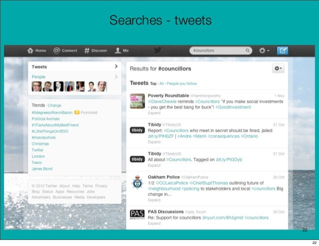 Searches - tweets                    22                         22