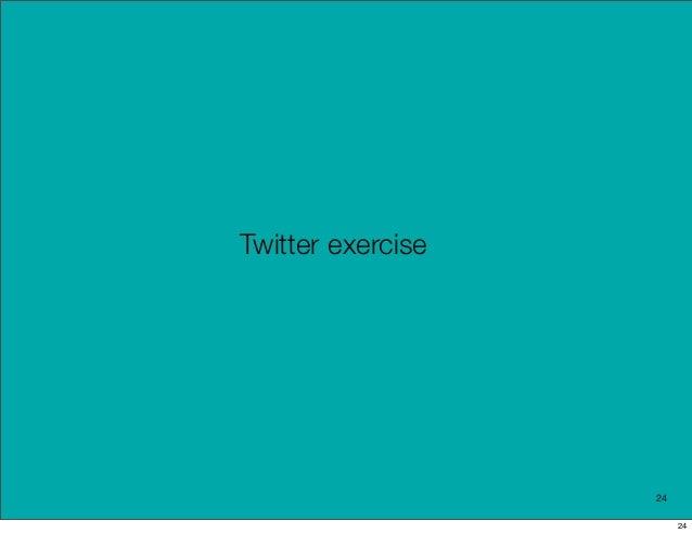 Twitter exercise                   24                        24