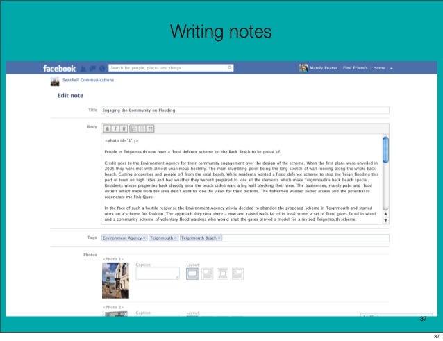 Writing notes                37                     37