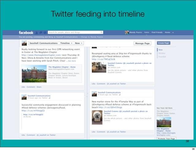 Twitter feeding into timeline                                38                                     38