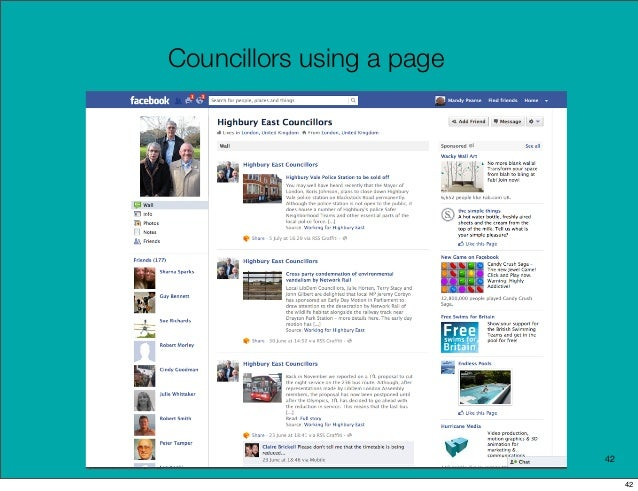 Councillors using a page                           42                                42