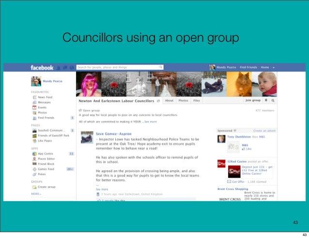 Councillors using an open group                                  43                                       43
