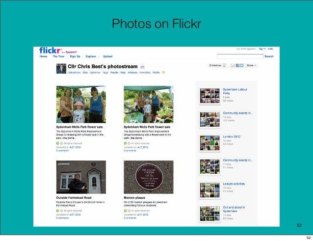 Photos on Flickr                   52                        52