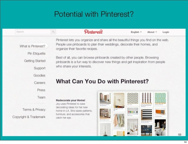 Potential with Pinterest?                            53                                 53